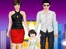 Play Celebrity Family Dress Up